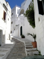 Inside the historic centre of Ostuni