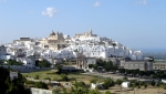 View of Ostuni the White City in Puglia