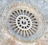 The rose window of the Cathedral of Ostuni, Puglia